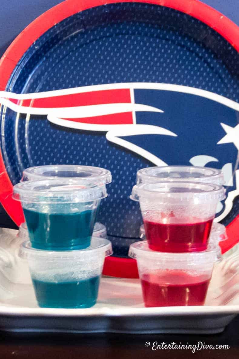 Blue and Red Jello Shots | Best Jello Shots by color