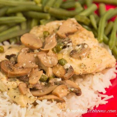Chicken Piccata with Mushrooms