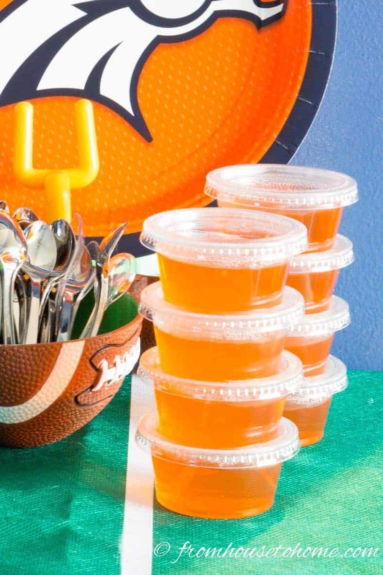 Orange jello shots