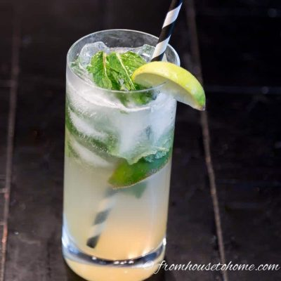 The finished mojito mocktail