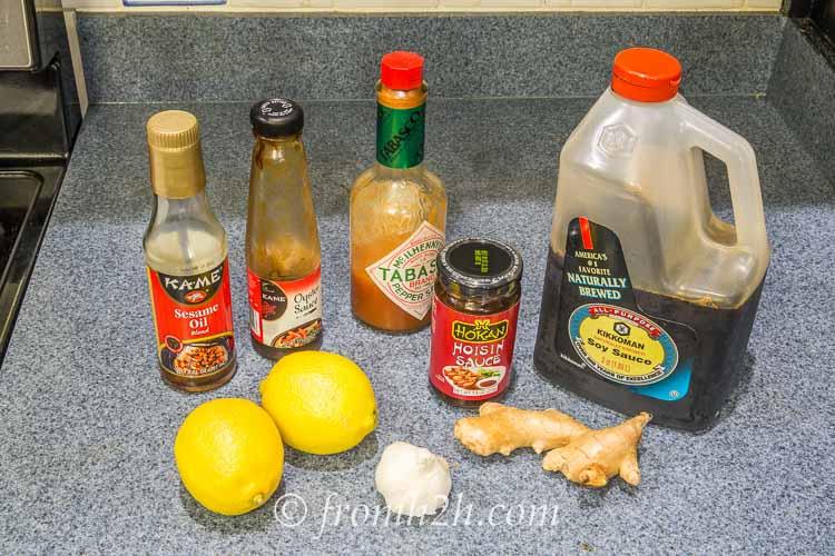 Oriental Lemon Ginger Wings Ingredients