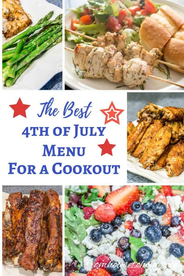 the best 4thof July menu for a cookout