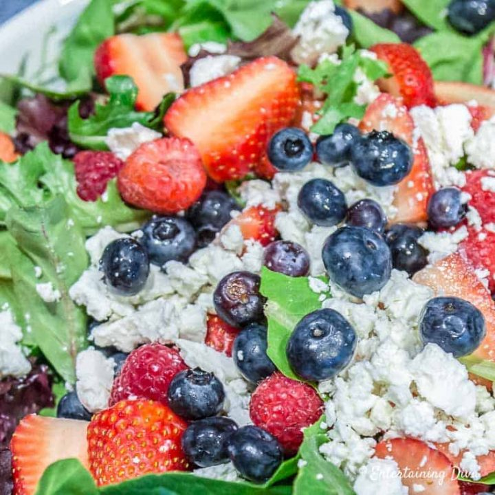 4th of july menu berry salad