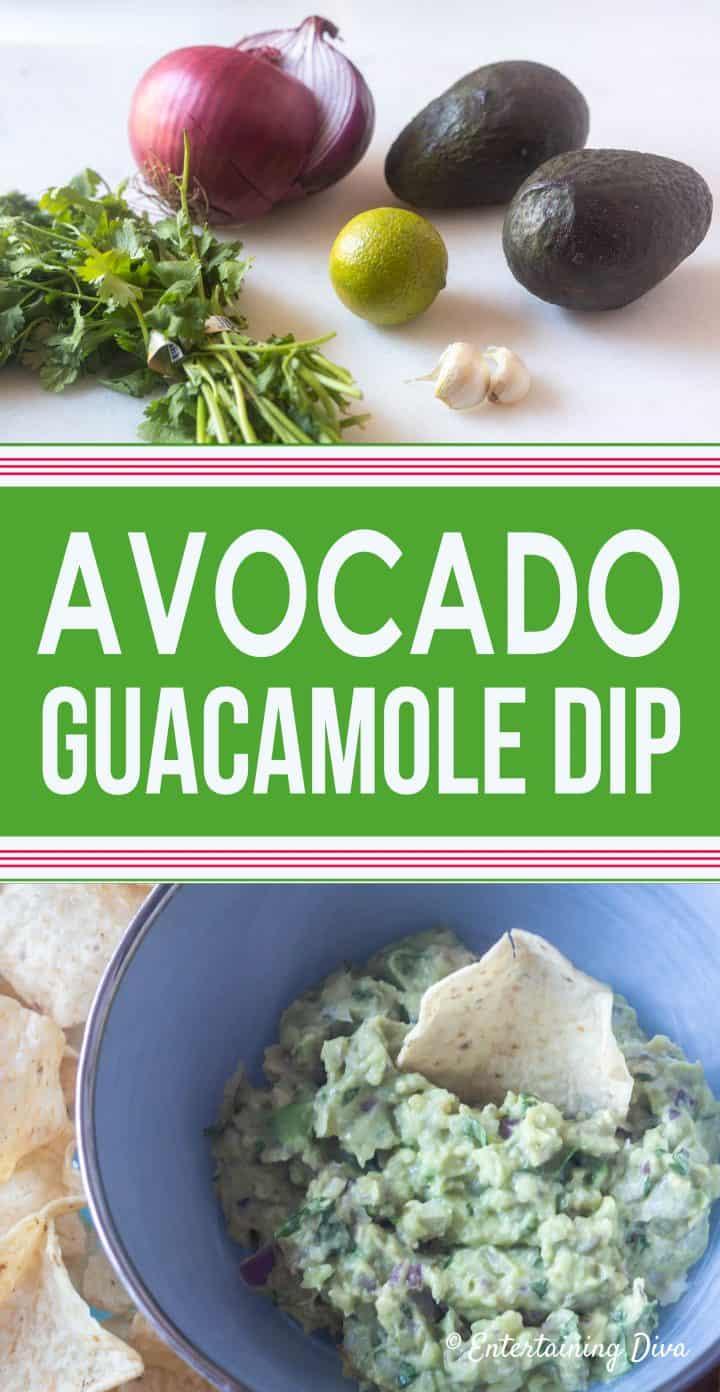 Avocado guacamole dip recipe