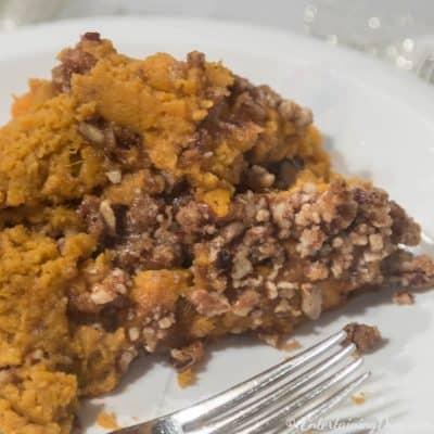 Southern slow cooker sweet potato casserole