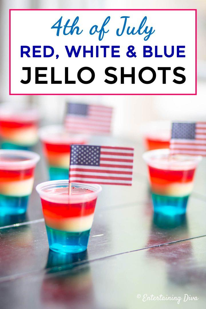 Tropical red, white and blue jello shots recipe