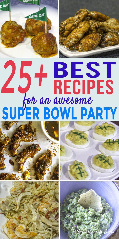 Super bowl party menu