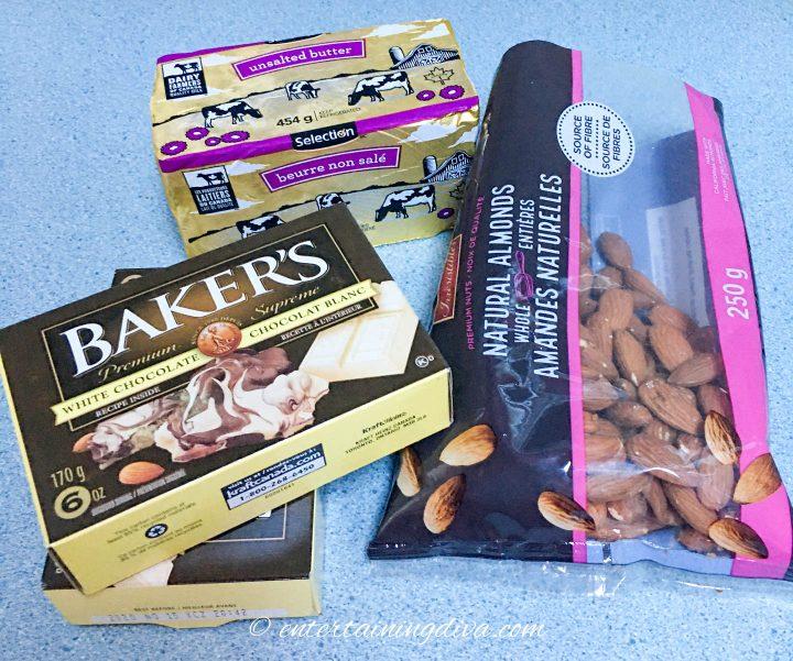 White almond bark recipe ingredients