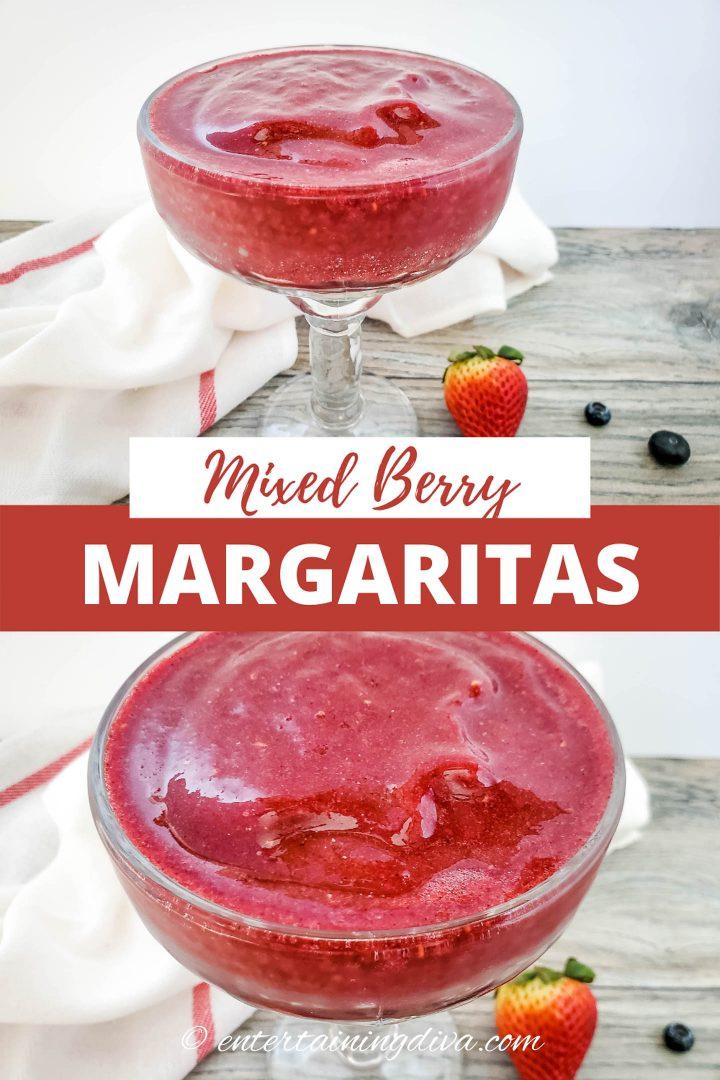 mixed berry frozen margaritas