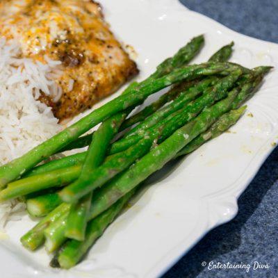 lemon garlic grilled asparagus recipe