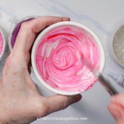 pink royal icing