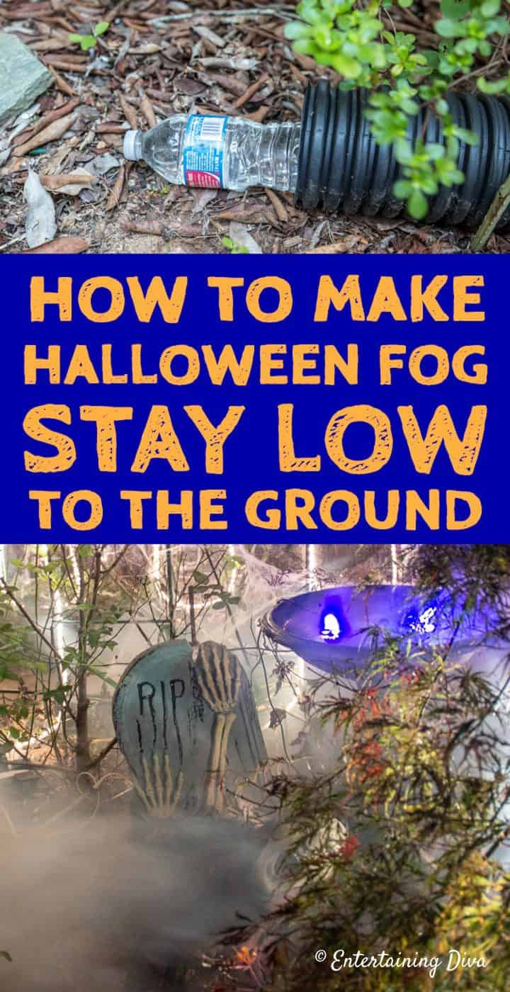 How to make Halloween fog stay low to the ground