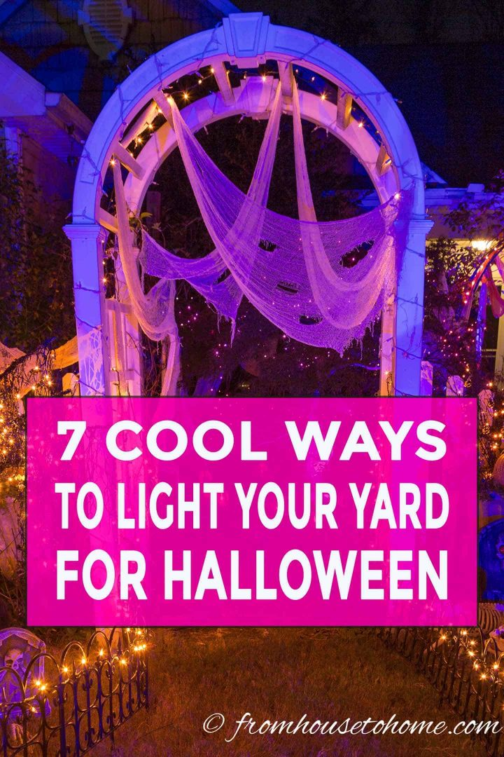 Cool Halloween outdoor decorating ideas with lights