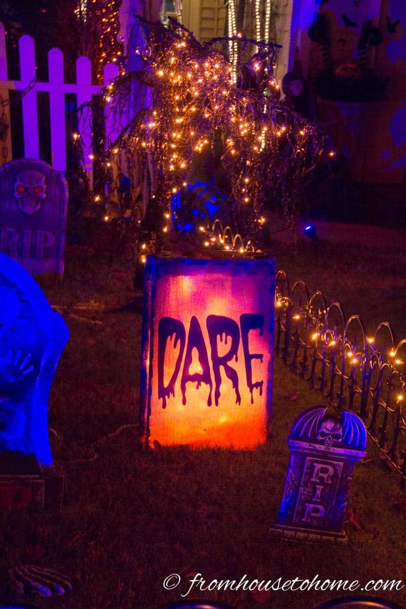 """Halloween """"Dare"""" Luminary"""