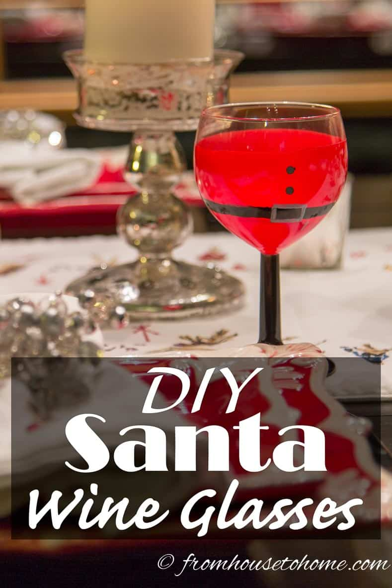 DIY Santa Wine Glasses