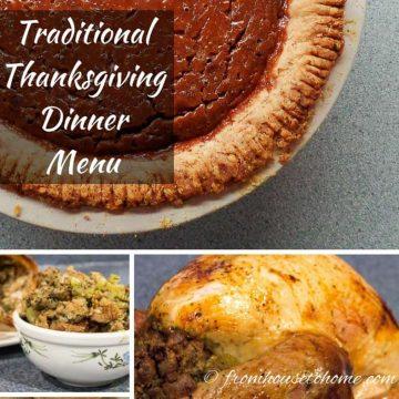 Traditional Thanksgiving Dinner Menu