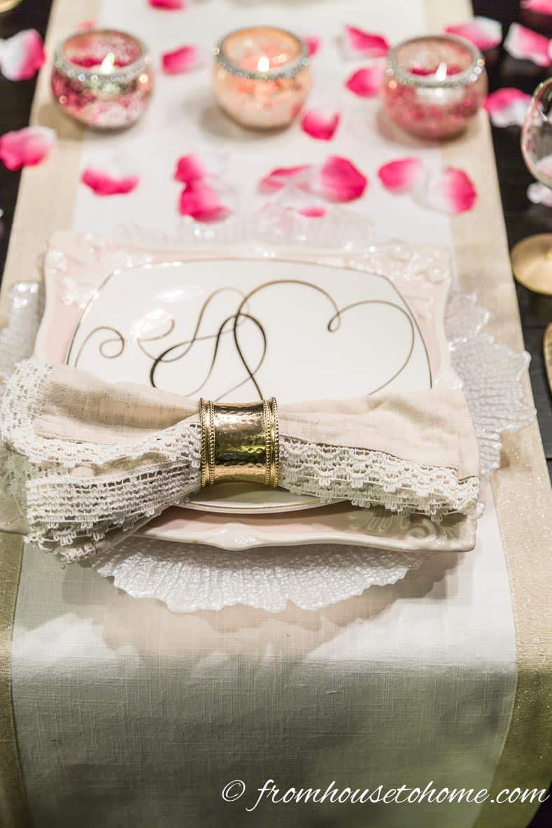 Valentine's Day Place Setting   How to create a romantic Valentine's Day table setting