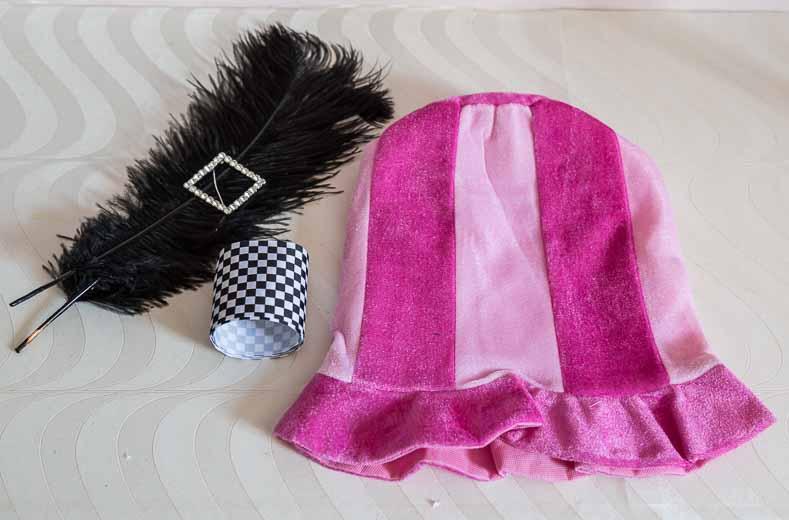 Mad Hatter pink hat #1 supplies