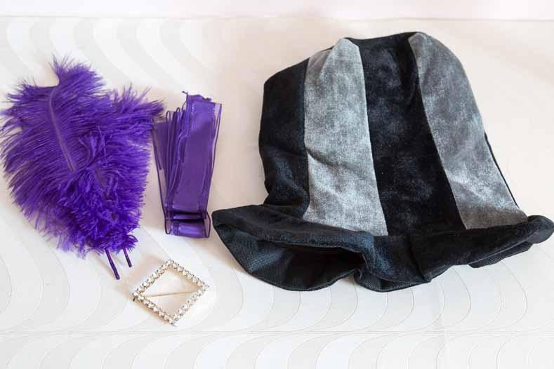 Mad Hatter purple hat supplies