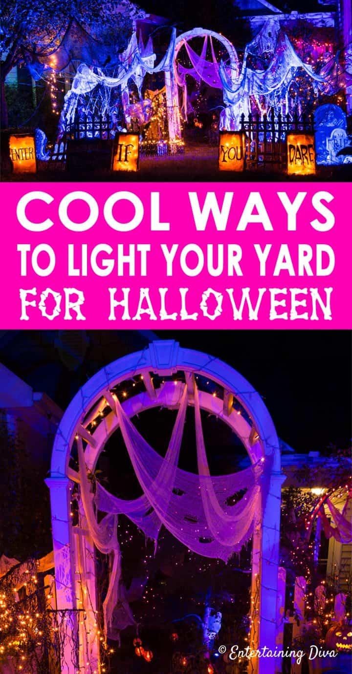 Cool Outdoor Halloween lighting ideas