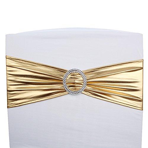 Gold chair sash
