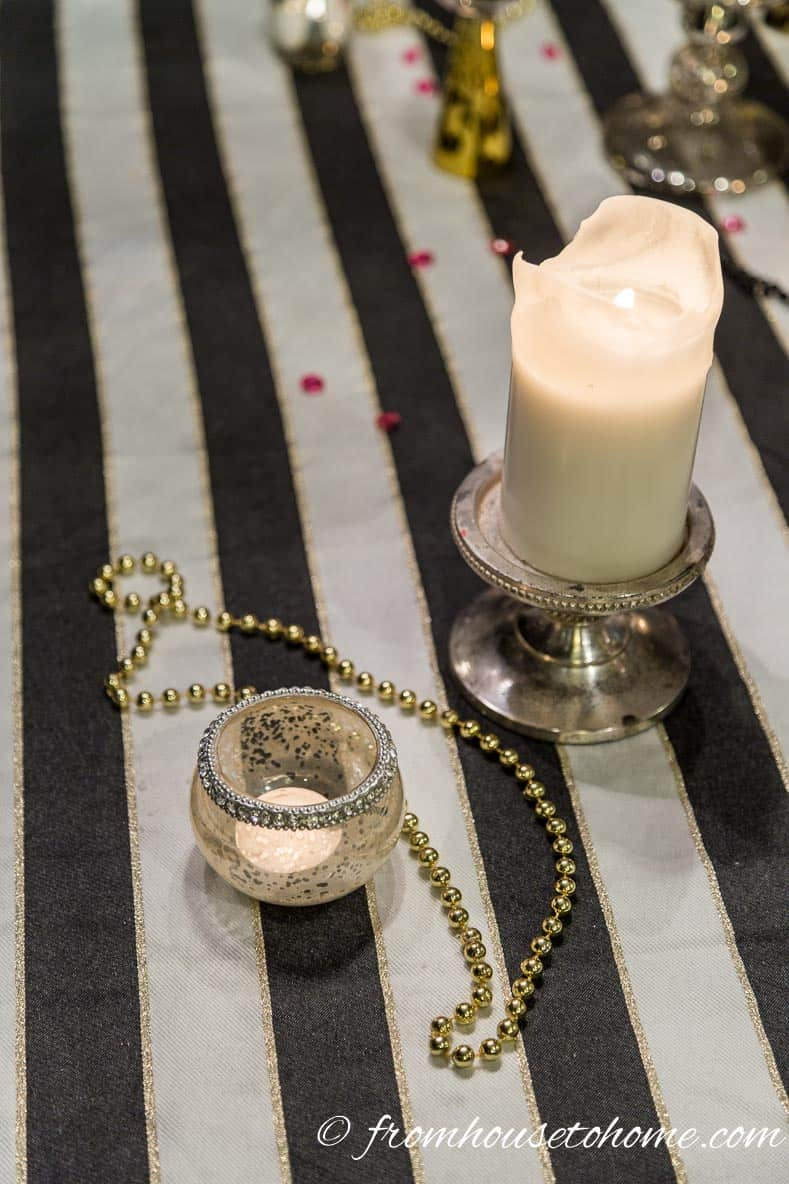 Black and White Stripes | Kate Spade Inspired Table Setting
