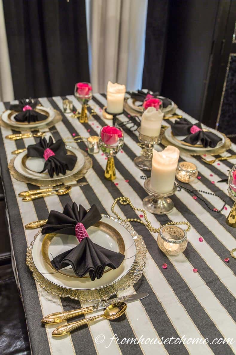 Kate Spade Inspired Table Setting