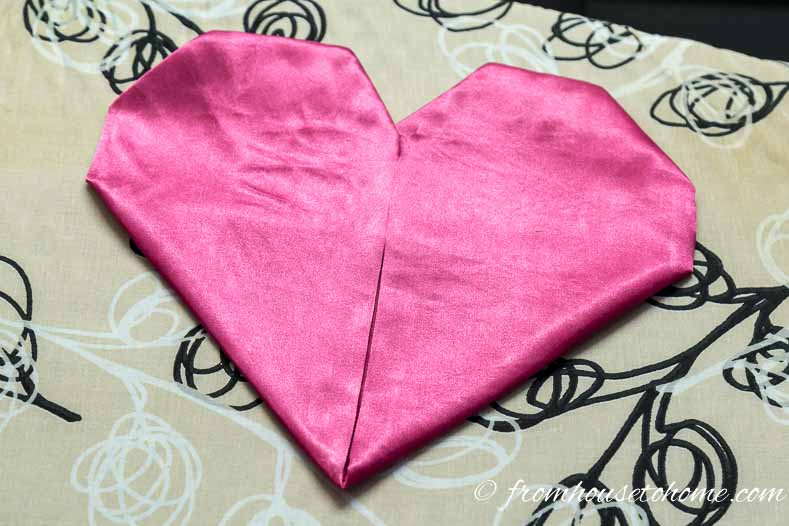 Flip the napkin over and you have a heart