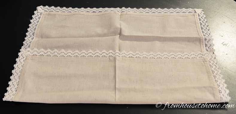 Fold the bottom of the napkin up