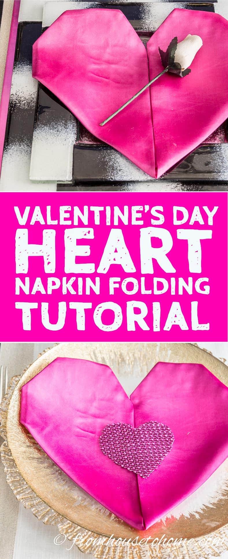 Valentine's Day How to: Easy Heart Napkin Folding Tutorial