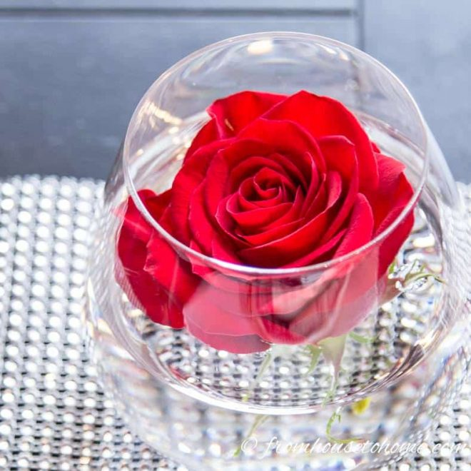 Valentines Day Table Decor Roses