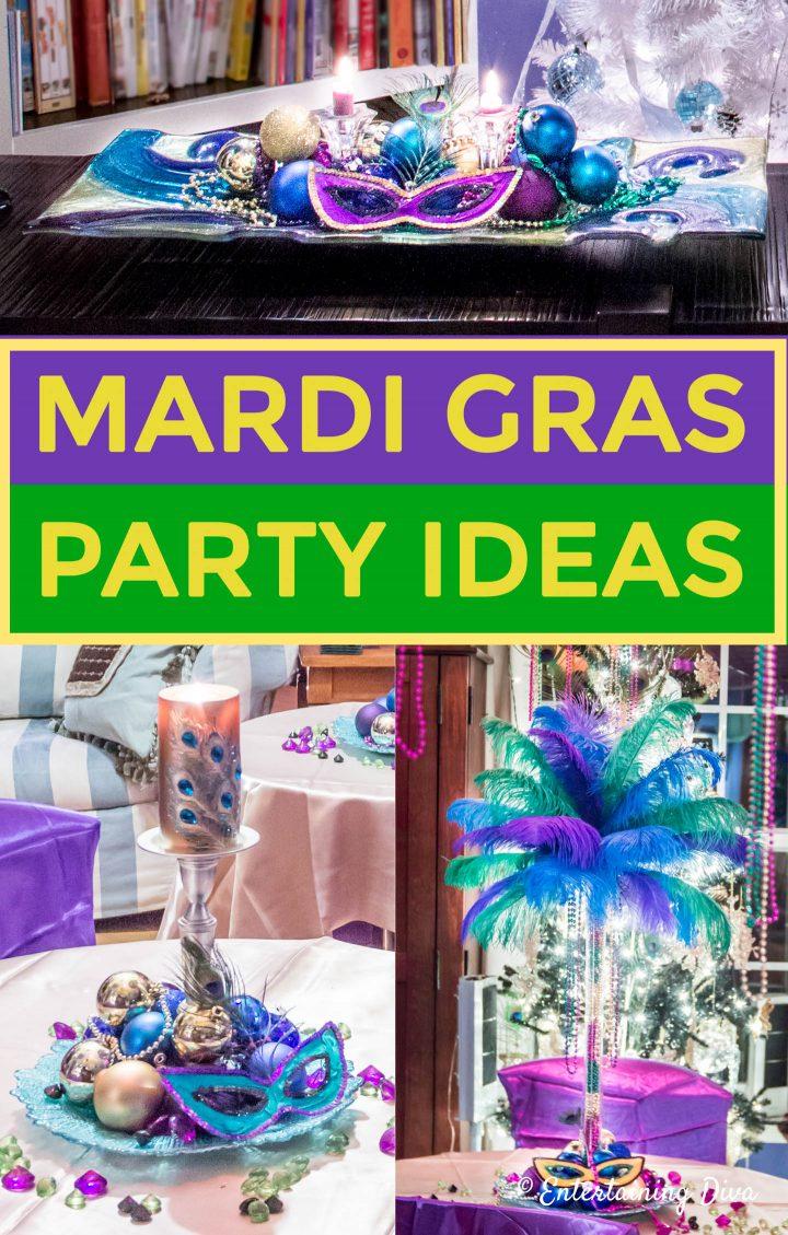 Mardi Gras party decorating ideas