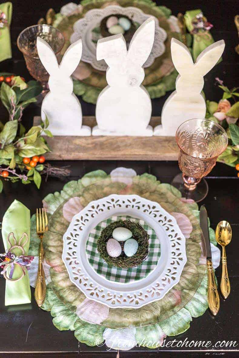 Easter table bunny centerpiece