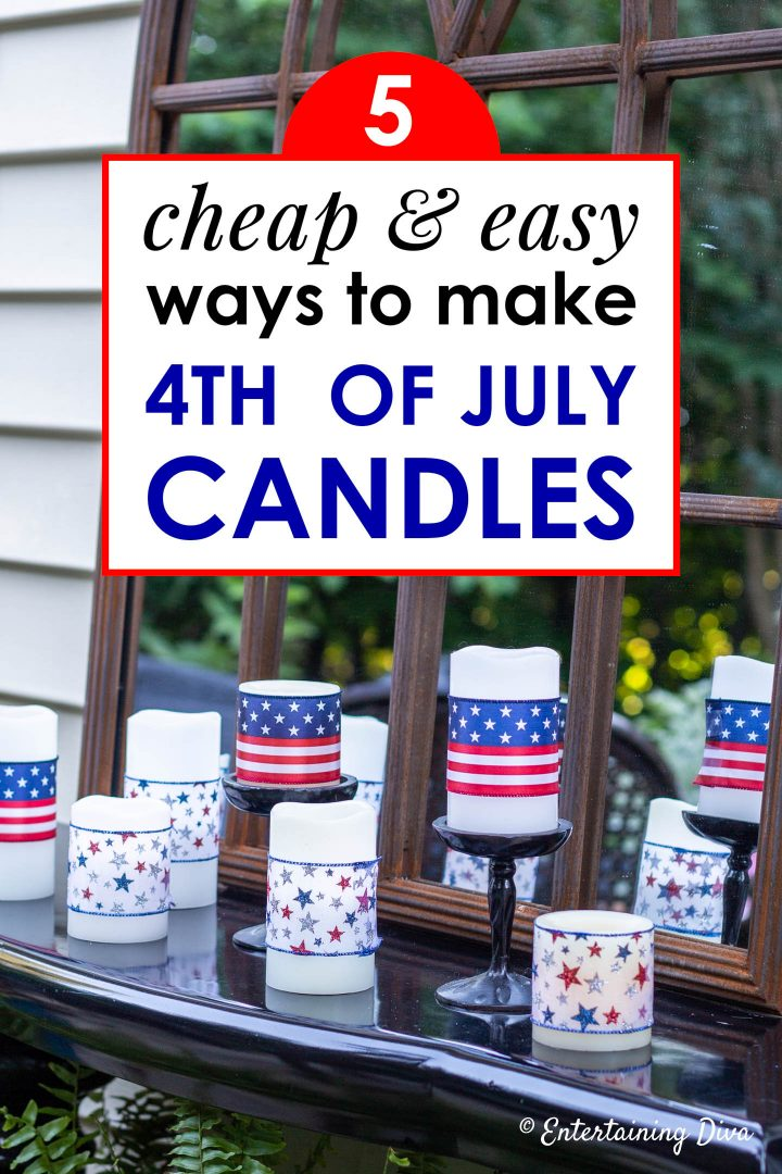 cheap and easy ways to make 4th of July candles