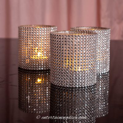 diy glam candle holders